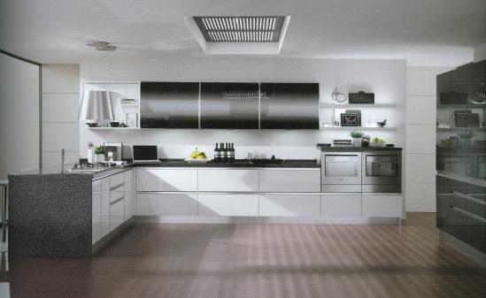 Cucine Bianche E Nere Lucide: Cucine moderne nere e bianche cucina moderna velvet sistemi.